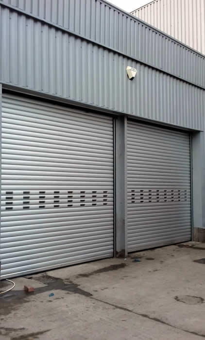Industrial Direct Drive Roller Shutters BL95 side view