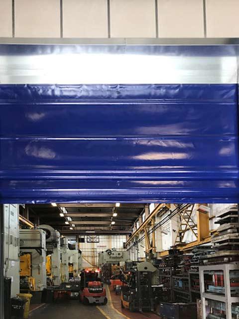 industrial fast fold doors canopy / mechanism