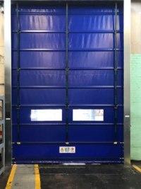 industrial fast fold doors interior shot