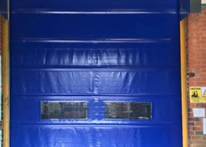 industrial fast fold doors exterior shot