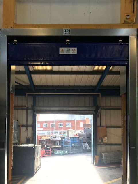 industrial fast fold doors robust frame