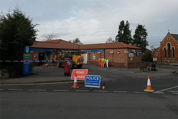 Ram Raid at Co-Op using Stolen JCB