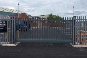 ram raid defence gate front
