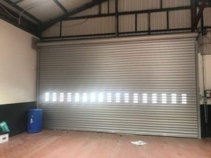 Industrial BL95 Insulated Roller Shutter Door Internal View