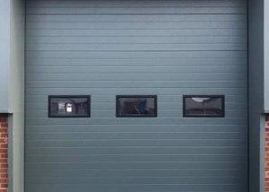 high-lift industrial insulated sectional door rollershutter Exterior