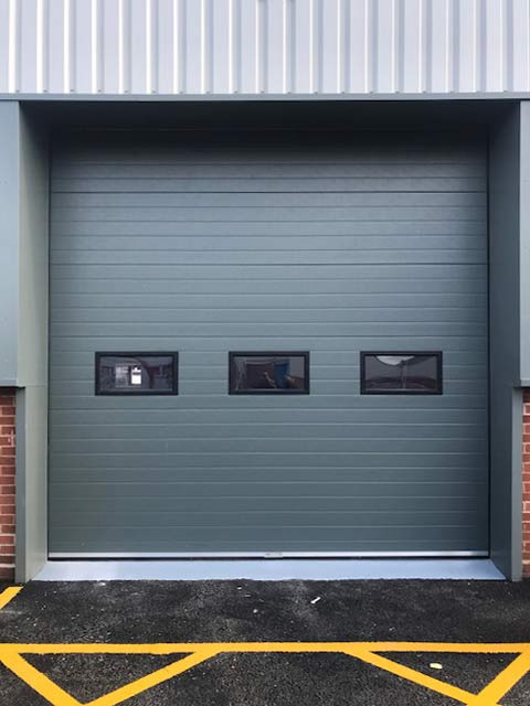 high-lift industrial insulated sectional door rollershutter Exterior