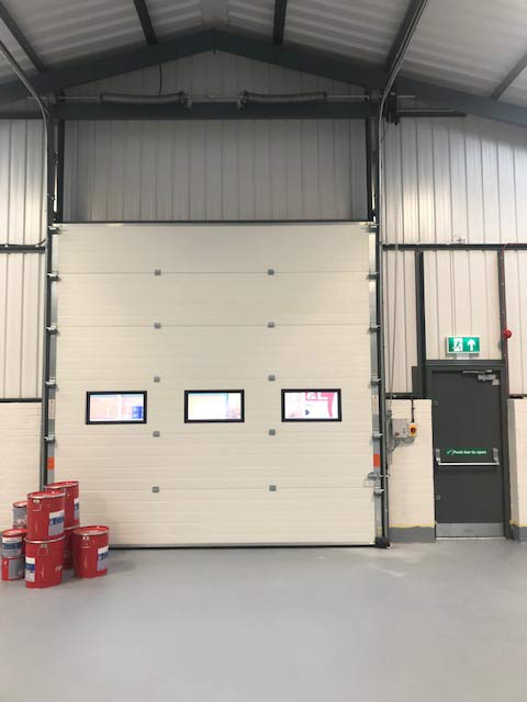 high-lift industrial insulated sectional door rollershutter Interior