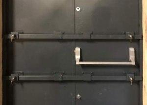 metador defender safeguard doors extra drop-down security bars interior