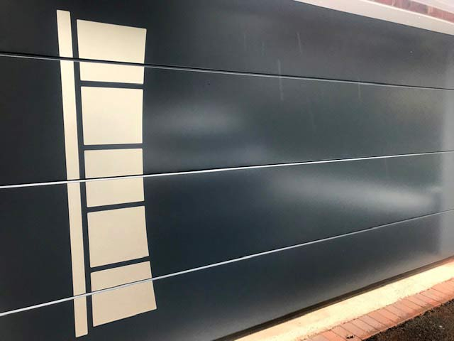 Sectional Garage Door Ryterna Design Range left view