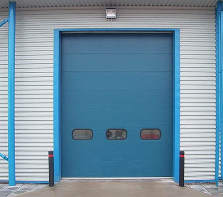Ocean-Blue sectional door