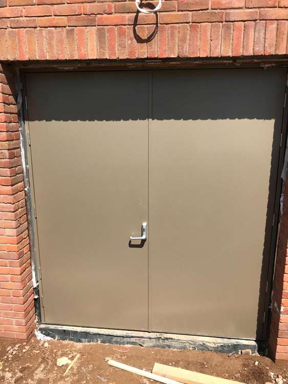 Bespoke Steel Rebound Doors Installed At Warwick