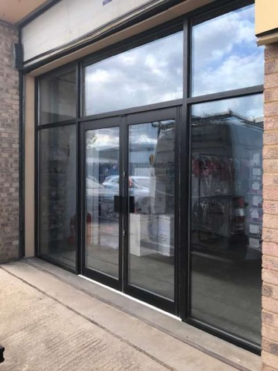 aluminium shop-front doors closed panache for kids