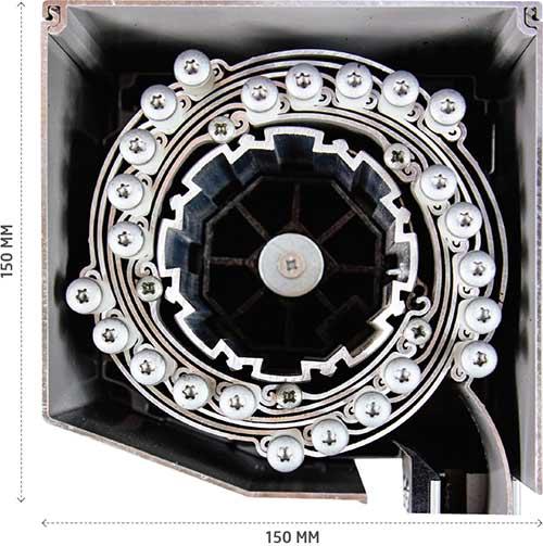 qompact roller shutter space saving coil design