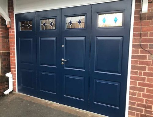 50-50 Bi-folding Side Hinged Garage Doors