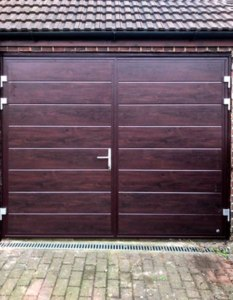 Ryterna Insulated Side Hinged Doors In Rosewood Finish