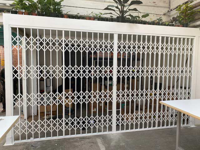 x-lattice security sliding grilles