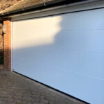 sws insulated sectional L-ribbed garage door side view