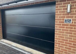 Sectional double-door black