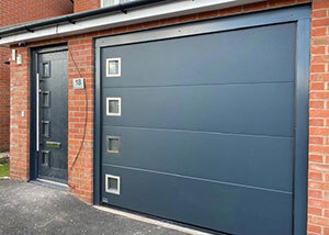 matching sectional garage door front door