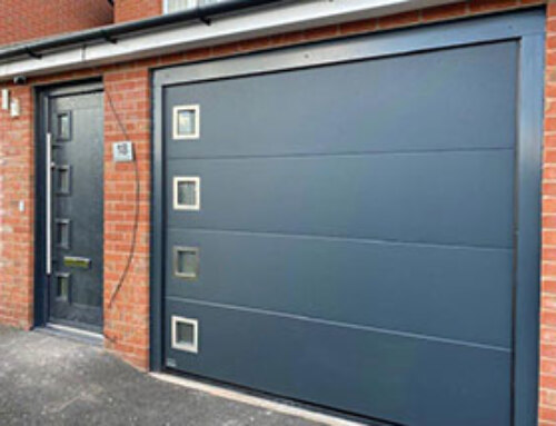 Insulated Sectional Garage Door & Matching Composite Front Door