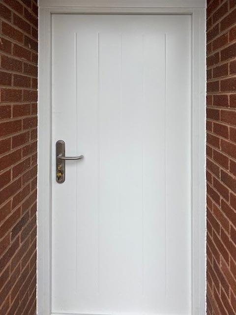 Composite Steel Security Door Installed at Enterprise Plastics