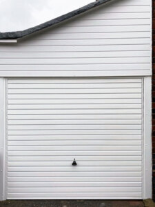 horizon garage door with cladding above